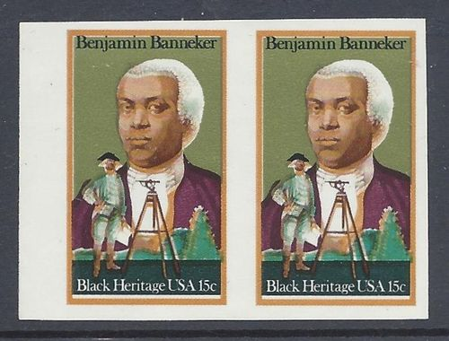 UNITED STATES 1980 BENJAMIN BANNEKER IMPERFORATED CERTIFICATE